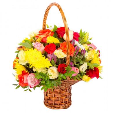 Корзина цветов «Карнавал»